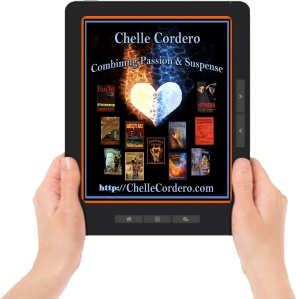 new Chelle ereader logo with books mod